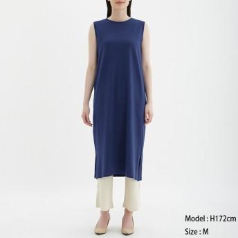 (GU)Iラインワンピース(ノースリーブ) BLUE L