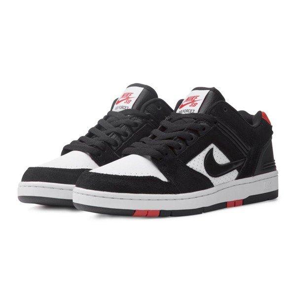 Nike SB Air Force II Low 2 Black White Red Men Skate