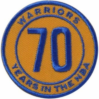 National Emblem ナショナル エンブレム スポーツ用品 Golden State Warriors 70th Anniversary Commemorative Patch
