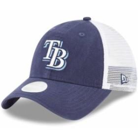New Era ニュー エラ スポーツ用品  New Era Tampa Bay Rays Womens Navy Trucker Shine 9TWENTY Adjustable Hat