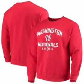 Stitches スティッチ 服 スウェット Stitches Washington Nationals Red Holiday Pullover Crew Sweatshirt