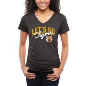 Fanatics Branded ファナティクス ブランド スポーツ用品  Grambling Tigers Womens Black Lets Go Tri-Blend V-Neck T