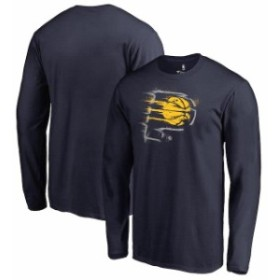 Fanatics Branded ファナティクス ブランド スポーツ用品  Fanatics Branded Indiana Pacers Navy Splatter Logo Long