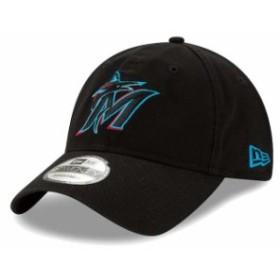 New Era ニュー エラ スポーツ用品  New Era Miami Marlins Black 2019 Replica Core Classic 9TWENTY Adjustable Hat