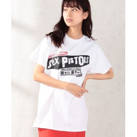 【10%OFF】 And A SEX PISTOLS/セックスピストルズ Filthy Lucre Live 勝手に来やがれ 半袖プリントTシャツ THE TEE/ザ・ティー レディース ホワイト S 【And A】 【セール開催中】