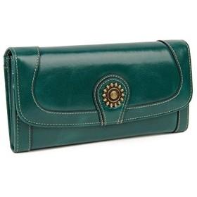 (ジカック)Zicac 財布 レディース 長財布 カードケース 牛革 おしゃれ 大容量 カード16枚収納 第1層牛革製 プレゼントBOX付き