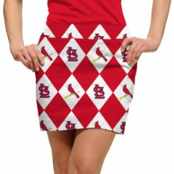 Loudmouth ラウドマウス スポーツ用品 Loudmouth St. Louis Cardinals Womens White Argyle Skort