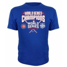 Stitches スティッチ スポーツ用品  Stitches Chicago Cubs Youth Royal 2016 World Series Champions Crossed Bats T-Shirt