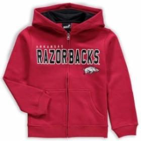 Genuine Stuff ジュニュイン スタッフ スポーツ用品  Arkansas Razorbacks Youth Cardinal Stated Full-Zip Hoodie