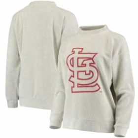Forever Collectibles フォーエバー コレクティブル 服 スウェット St. Louis Cardinals Womens Cream Big Logo Crew