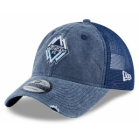 New Era ニュー エラ スポーツ用品  New Era Vancouver Whitecaps FC Navy Tonal Washed 2 Trucker 9TWENTY Adjustable Hat