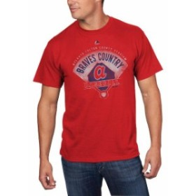 Majestic マジェスティック スポーツ用品  Majestic Atlanta Braves Red Cooperstown Collection Strategic Advantage T-S