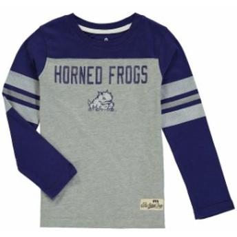 Outerstuff アウタースタッフ スポーツ用品 TCU Horned Frogs Preschool Purple Legacy Long-Sleeve Football T-Shirt