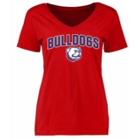 Fanatics Branded ファナティクス ブランド スポーツ用品  Louisiana Tech Bulldogs Womens Red Proud Mascot T-Shirt