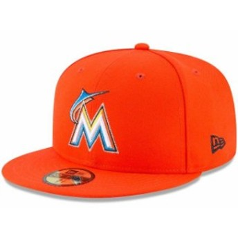 New Era ニュー エラ スポーツ用品 New Era Miami Marlins Orange Road Authentic Collection On-Field 59FIFTY Fitted Hat