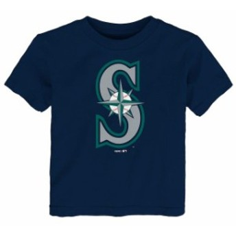 Outerstuff アウタースタッフ スポーツ用品 Seattle Mariners Toddler Navy Primary Logo T-Shirt