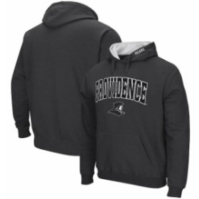 Colosseum コロセウム スポーツ用品  Colosseum Providence Friars Charcoal Arch & Logo Tackle Twill Pullover Hoodie