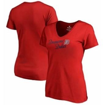 Fanatics Branded ファナティクス ブランド スポーツ用品 Duquesne Dukes Womens Red Dora T-Shirt