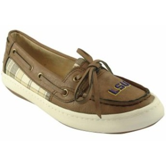 Renaissance ルネサンス スポーツ用品 LSU Tigers Womens Brown Westend One Eye Moccasins