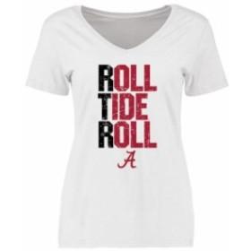 Fanatics Branded ファナティクス ブランド スポーツ用品  Alabama Crimson Tide Womens White RTR T-Shirt