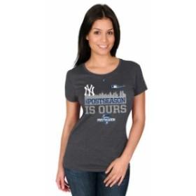 Majestic マジェスティック スポーツ用品  Majestic New York Yankees Womens Charcoal 2015 Postseason is Ours Locker R