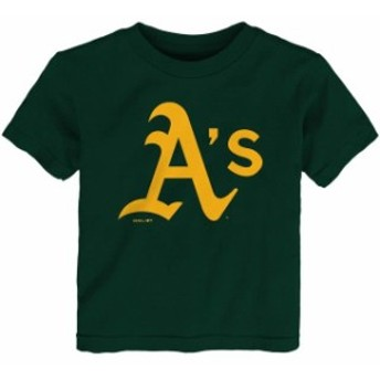 Outerstuff アウタースタッフ スポーツ用品 Oakland Athletics Toddler Green Team Primary Logo T-Shirt