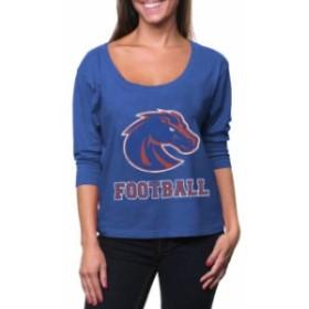 Signorelli シニョレリ スポーツ用品  Boise State Broncos Womens First Down Three-Quarter Dolman Sleeve T-Shirt - Royal