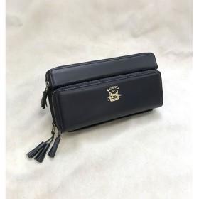 わちふぃーるど/レザーバンク財布 ダヤン 黒