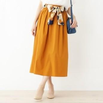 グローブ(grove)/スカーフベルト付きギャザースカート