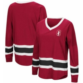 Colosseum コロセウム スポーツ用品 Colosseum Stanford Cardinal Womens Cardinal Marquee Players Oversized Long Sleeve