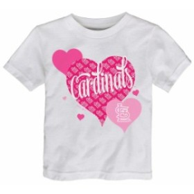 Outerstuff アウタースタッフ スポーツ用品  St. Louis Cardinals Girls Toddler White Bubbly Luv T-Shirt