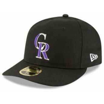 New Era ニュー エラ スポーツ用品 New Era Colorado Rockies Black Fan Retro Low Profile 59FIFTY Fitted Hat
