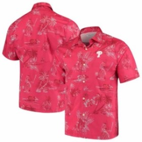 Tommy Bahama トミー バハマ スポーツ用品  Tommy Bahama Philadelphia Phillies Red Seventh Inning Button-Up Shirt