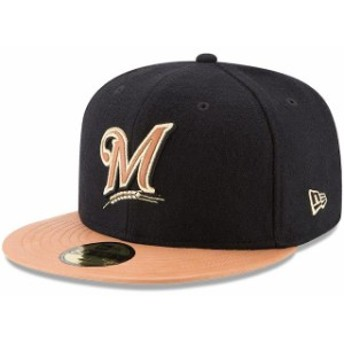New Era ニュー エラ スポーツ用品 New Era Milwaukee Brewers Black/Natural Wilson Collaboration 59FIFTY Fitted Hat