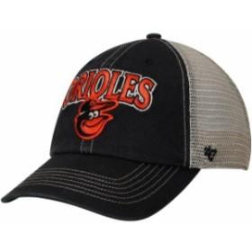 47 フォーティーセブン スポーツ用品  47 Baltimore Orioles Black/Natural Tuscaloosa Clean Up Adjustable Hat