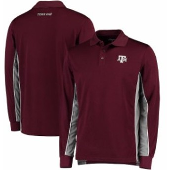 Colosseum コロセウム シャツ ポロシャツ Colosseum Texas A&M Aggies Maroon Chip Shot Long Sleeve Polo
