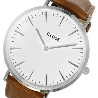 クルース CLUSE ラ・ボエーム レザーベルト 38mm レディース 腕時計 CL18211 ホワイト/キャメル ホワイト