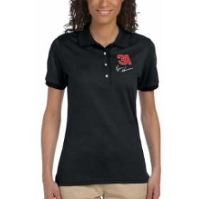 Checkered Flag チェッカード フラッグ スポーツ用品  Checkered Flag Sports Ryan Newman Womens Racer Polo - Black