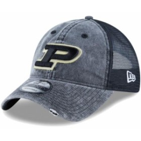 New Era ニュー エラ スポーツ用品  New Era Purdue Boilermakers Black Tonal Washed Trucker 2 9TWENTY Snapback Hat