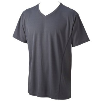 【BODY SWITCH】ハニカムメッシュTシャツ 半袖Vネック(メンズ) グレー
