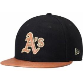 New Era ニュー エラ スポーツ用品  New Era Oakland Athletics Black/Natural Wilson Collaboration 59FIFTY Fitted Hat