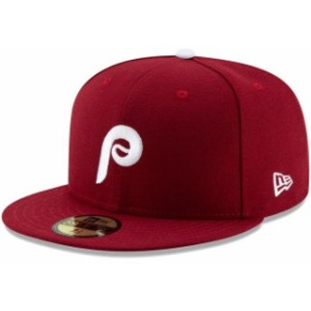 New Era ニュー エラ スポーツ用品 New Era Philadelphia Phillies Youth Red Authentic Collection On Field 59FIFTY Fitte