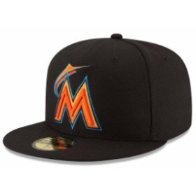 New Era ニュー エラ スポーツ用品  New Era Miami Marlins Black Game Diamond Era 59FIFTY Fitted Hat