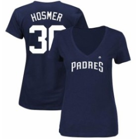 Majestic マジェスティック スポーツ用品  Majestic Eric Hosmer San Diego Padres Womens Navy V-Neck Name and Number T