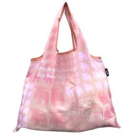 (モズ)moz 大容量ショッピングバッグ ポーチ付き パウダーピンク