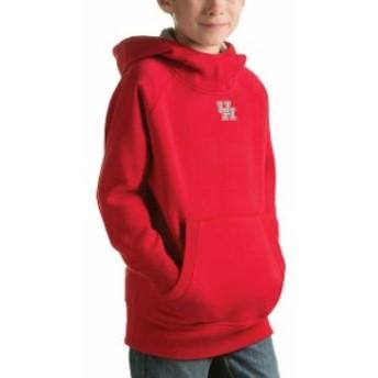 Antigua アンティグア スポーツ用品 Antigua Houston Cougars Youth Red Victory Pullover Hoodie