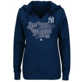 Majestic マジェスティック スポーツ用品  Majestic New York Yankees Womens Navy Plus Size Goals Achieve Dreams Pullo