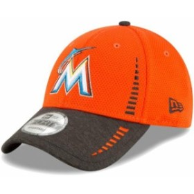 new style 9e6ec 5237f New Era ニュー エラ スポーツ用品 New Era Miami Marlins Orange Heathered Black Speed  Tech