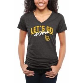 Fanatics Branded ファナティクス ブランド スポーツ用品  Long Beach State 49ers Womens Black Lets Go Tri-Blend V-