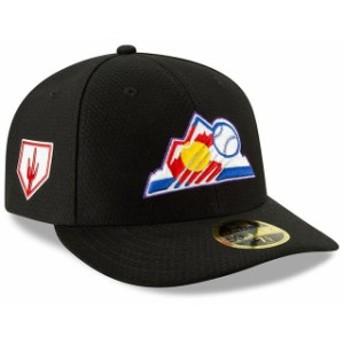 New Era ニュー エラ スポーツ用品 New Era Colorado Rockies Black 2019 Spring Training Low Profile 59FIFTY Fitted Hat